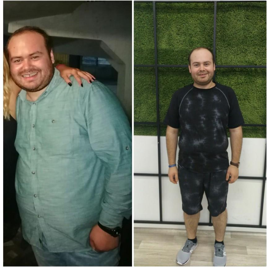Rezultate minunate la inceput de an! Cate kilograme a slabitBogdan?