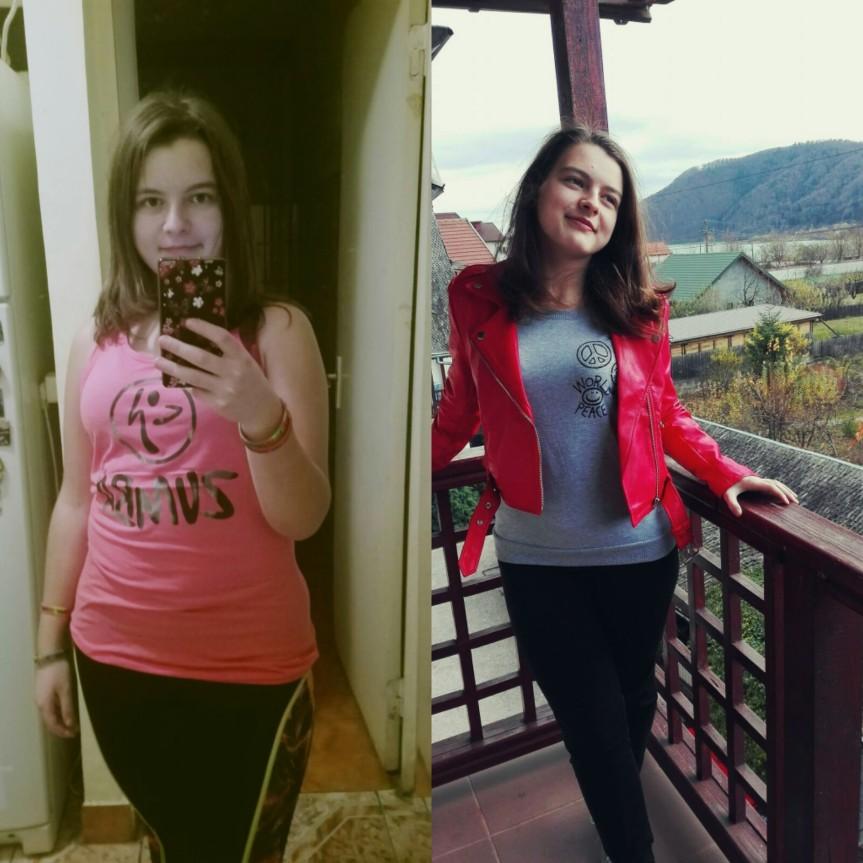 Adolescenta noastra cu 11 kilograme in minus –Alexandra