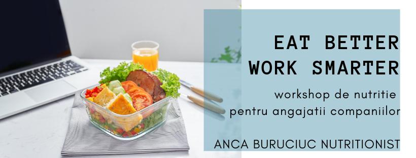 Eat better, work smarter – workshop de nutritie pentru angajatisanatosi